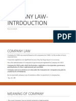 Company Law Intrdouction