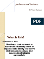 Session 6 Meaning and Nature of Risk