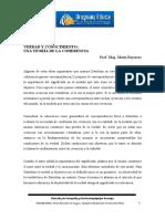 Verdad y Conocimiento_ Una Teoría de La Coherencia Prof. Mag. Marta Bayarres