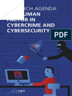 Research Agenda the Human Factor in Cybercrime and Cybersecurity