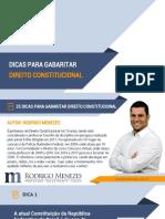 eBook 25 Dicas Para GABARITAR Direito Constitucional - Rodrigo Menezes