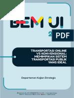 Transportasi Online vs Konvensional- Memimpikan Sistem Transportasi Publik Yang Ideal