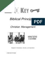 20 Key Biblical Principles for Management