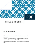Indefeasibility of Title