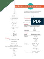 AP statistics _ Formulas and Tables
