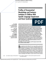 Profiles of Grammatical Morphology and Sentence Imitation in Children With Sp...Out