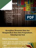 powerpoint pendidikan agama tentang Iman, Iptek dan Amal sebagai ketentuan