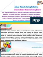 Paint and Coatings Manufacturing Industry.