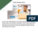 Audit Postulates Essay