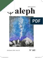 Aleph No. 185. Abril / Junio 2018, Año 52. Manizales, Colombia