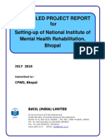 NIMHR DPR 201607 DETAILED PROJECT REPORT for Setting-up of National Institute of Mental Health Rehabilitation, Bhopal