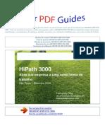 Manual Do Usuário SIEMENS HIPATH 3800 P