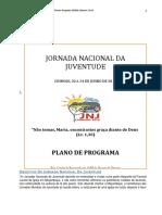 1ª Jnj Plano de Programa