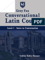 Grey Fox Conversational Latin Course - Level 1.pdf