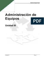 ADMINISTRACION DE EQUIPOS