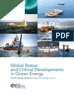 OES IEA Global Status and Critical Developments on Ocean Energy