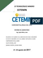 Informe Cetemin Hidrometalurgia Del Oro