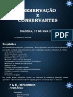 Preservação e Conservantes - Sebastião - Proserv