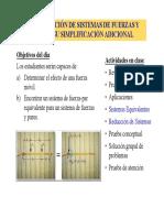 Estática - Simplificación de Sistemas de Fuerzas y Pares
