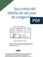 Análisis Critico Del Distrito de San Juan De
