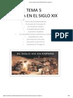 Tema 5 Sociales Anaya .6º EP España en El Siglo Xix
