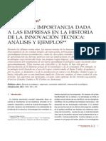 Historia innovación técnica David Egerton