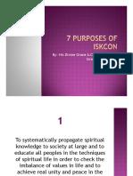 7 Purposes of ISKCON