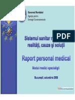 2008 Raport Personal Medical Modul Medici Specialisti
