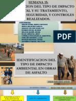 IDENTIFICACION DEL TIPO DE IMPACTO AMBIENTAL Y SU TRATAMIENTO, MEDIDAS DE SEGURIDAD, Y CONTROLES REALIZADOS