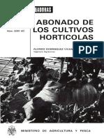 Abonado de Cultivos Horticolas