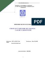 Choix Regime de Change