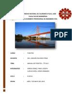 Informe Del Manual de Diseño de Puente - universidad nacional de cajamarca