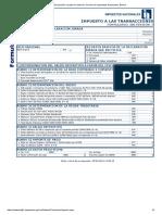 Declaración Jurada Vía Internet. Servicio de Impuestos Nacionales, Bolivia