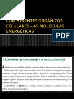 Componentes Orgânicos Celulares – as Moléculas Energéticas