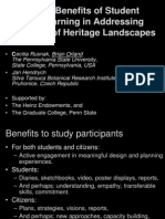 Orland-Rusnak Reciprocal Benefits of Student Service-learning in Addressing the Needs of Heritage Landscapes Presentation