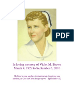Violet M. Brown Memorial Service Brochure