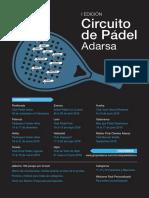 Cartel Final Circuito Padel Adarsa 2018