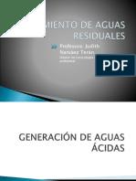 Generación y Tratamiento de Aguas Ácidas
