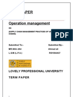 term paper of supply chain management