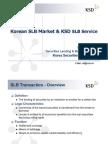 Korea - Securities Lending and Borrowing