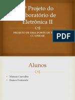 2° Projeto do Laboratório de Eletrônica II