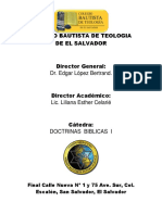 Folleto de Doctrinas Bíblicas I - 2011