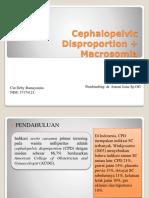 Cephalopelvic Disproportion + Macrosomia