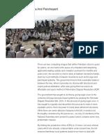 Legalising the Jirga and Panchayant