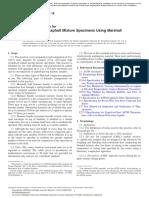 D6926 - Preparation of Test Specimens Using Marshall Hammer