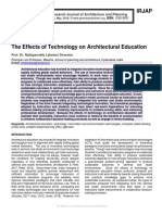 The Effects of Technology on Architectural Education