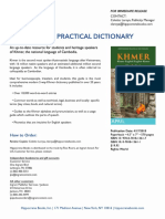 Khmer (Cambodian) Practical Dictionary Press Release