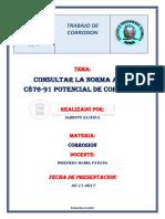 Consultar La Norma Astm c876-91 Potencial de Corrosión