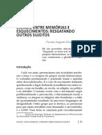 ESCADA, ENTRE MEMÓRIAS E ESQUECIMENTOS