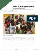 2018-05-16 Heraldo San Mateo de Gállego, En Pie de Guerra Contra El Consumo Irresponsable de Alcohol